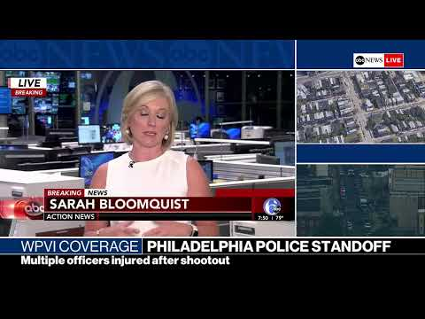 WATCH   TENSE POLICE STANDOFF IN PHILADELPHIA AFTER SHOOTING  WPVI Coverage on ABC News