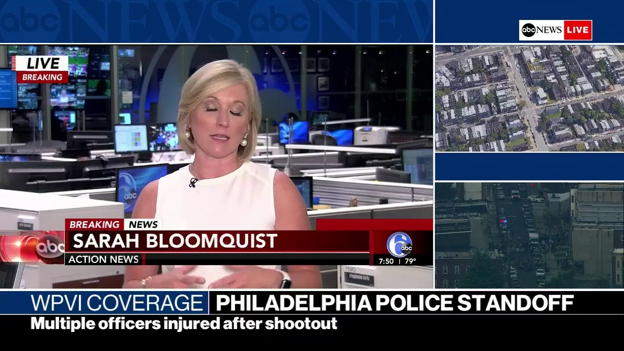 WATCH LIVE | TENSE POLICE STANDOFF IN PHILADELPHIA AFTER SHOOTING | WPVI Coverage on ABC News Live