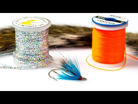 Squirrel, Blue & Silver Fly Tying Pattern - Sea Trout Fishing Fly.