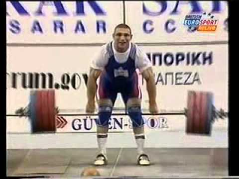 2001 World Weightlifting 94 Kg Clean and Jerk