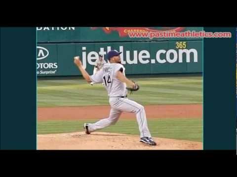 David Price Slow Motion Pitching Mechanics - Baseball Pitcher Instruction Tampa Bay Rays MLB