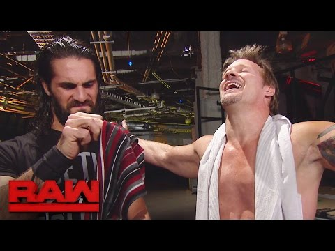 "Thumbnail: Seth Rollins and Braun Strowman receive ""The Scarf of Jericho"": Raw, Nov. 14, 2016"
