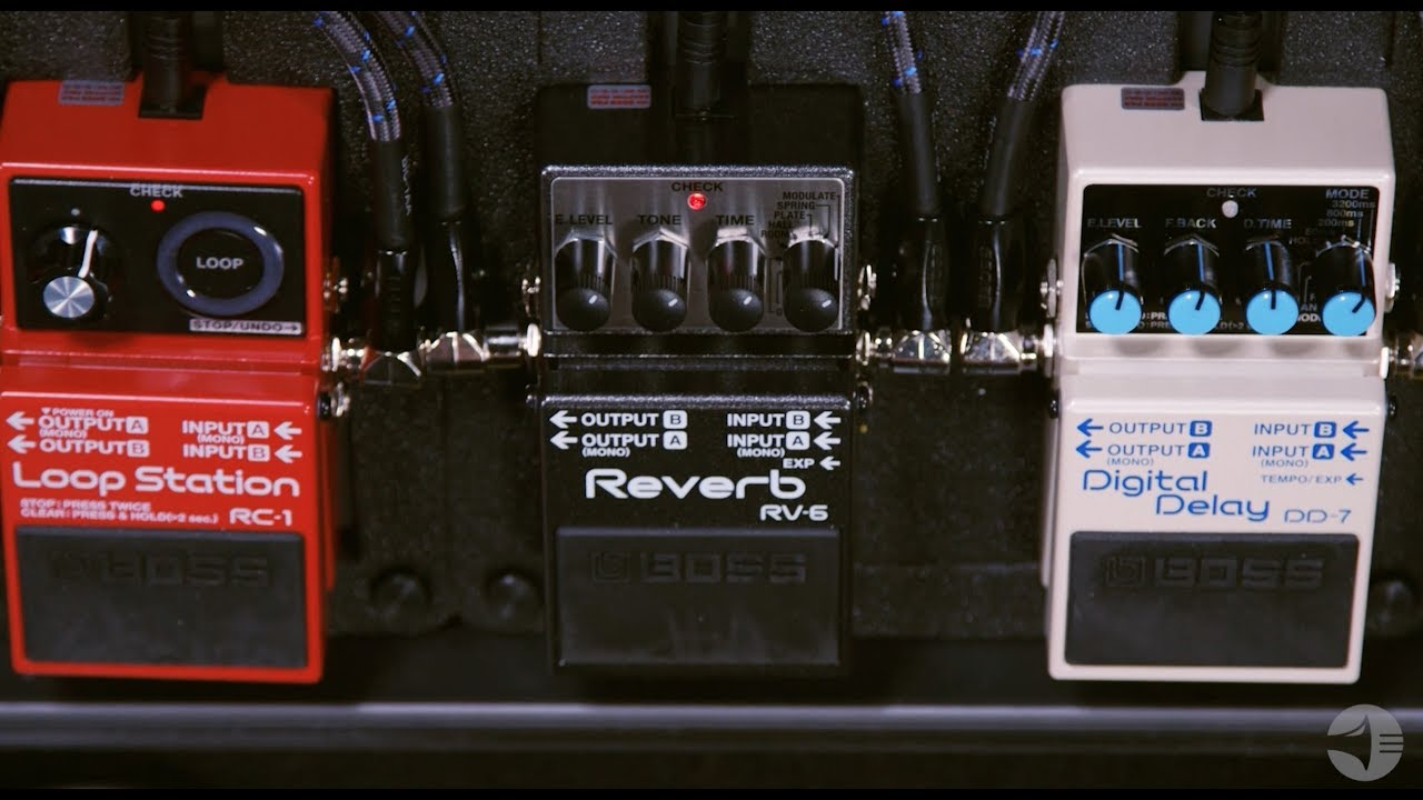 Boss Rv 6 Digital Delay Reverb Guitar Effects Pedal Youtube