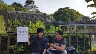 Street musician in Japan OSAKA !! Sho okazaki !! interview by indian in japan !!