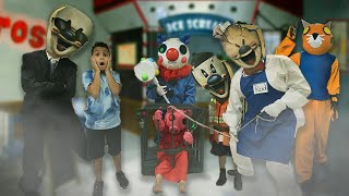 ICE SCREAM 4 IN REAL LIFE   ROD TRAPS ROBLOX PIGGY, CLOWNY and TIGRY   DEION'S PLAYTIME