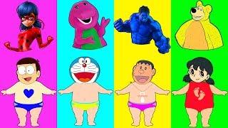 Dress Doraemon Nobita Hulk Ladybug Barney Dinosaur Masha and the Bear troll Finger Family Song