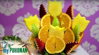 FruiQuet owner Noeme Supnet shows how to prepare their Sunny Tropics fruit bouquet | My Puhunan