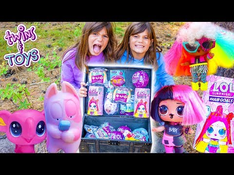Kate & Lilly Magic Treasure Hunt with Surprise Toys!!