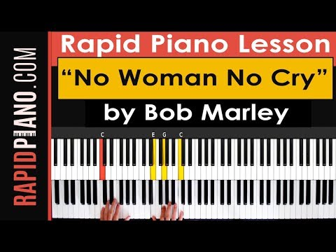 "How To Play ""No Woman No Cry"" by Bob Marley - Piano Tutorial & Lesson - (Part 1)"