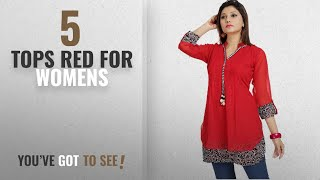 Top 10 Tops Red For Womens 2018 ALC Creations Women 39 s Chiffon A-Line Short Top
