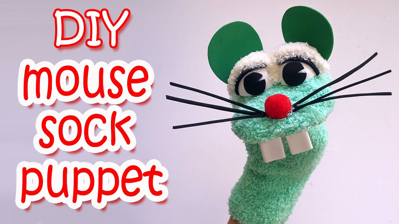 How to make a Mouse Sock Puppet - Ana | DIY Crafts - YouTube