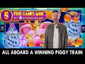 🐽 All Aboard Piggy Penny Train 🐽 Bonus on $7.50 Spins