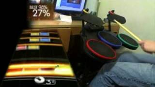 Difficult Rock Band Fills 100%ed using a Guitar Hero World Tour Kit