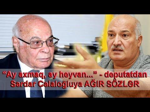 """""""Ay axmaq, ay heyvan..."""" — deputatdan Sərdar Cəlaloğluya AĞIR SÖZLƏR"""