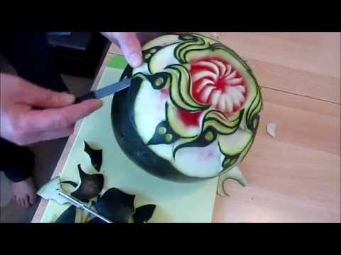 Cách tỉa nghệ thuật từ Dưa Hấu 2-Melons art from pruning-雕刻藝術-نحت الفن-Melonen Kunst.