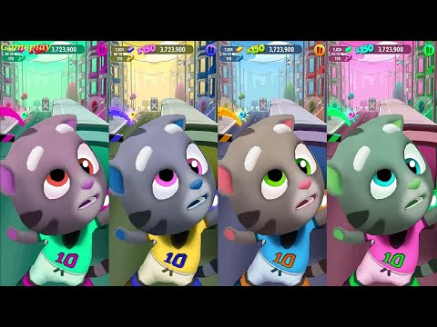 TALKING TOM GOLD RUN NEW UPDATE SPORTS LEAGUE EVENT Colors Reaction Football TOM Catch the Raccoon