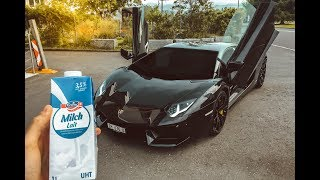 DRIVING A LAMBORGHINI AVENTADOR TO BUY MILK