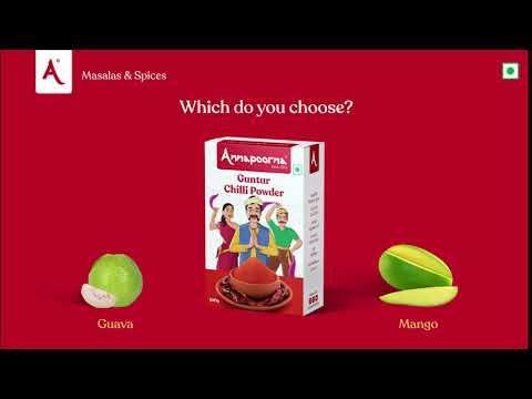 Chilli with Guava or Raw Mango?   Guntur Chilli Powder   Annapoorna Masalas & Spices