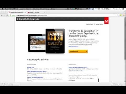 Cuenta de DPS de Adobe In design para una Revista Electrónica