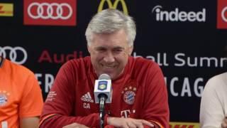 Pellegatti in tedesco e Ancelotti si esalta
