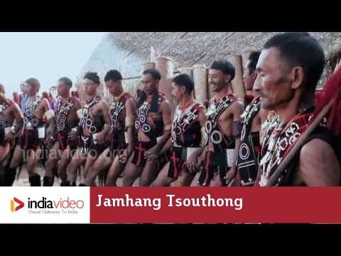 Rehearsal of Jamhang Tsouthong, a tribal dance  of Nagland