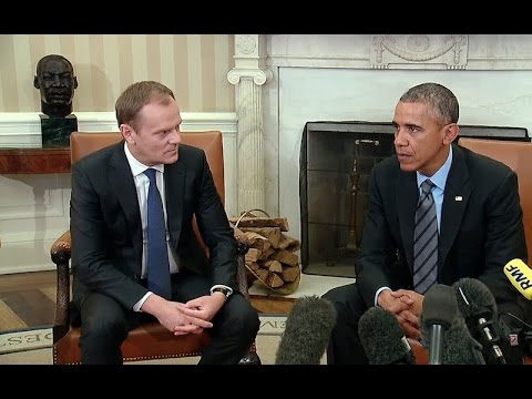 President Obama Meets with the European Council President