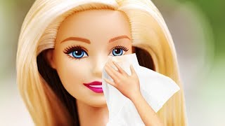 Removing BARBIE'S Makeup