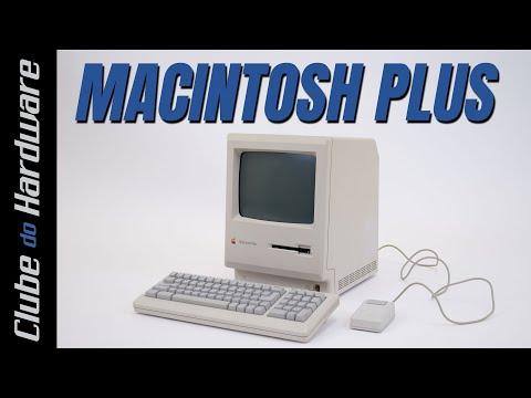 Brincando com um Macintosh Plus (1986) com HD Externo