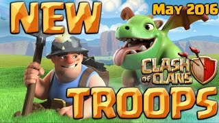 clash of clans new troops miner & baby dragon