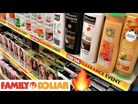 FAMILY DOLLAR CLEARANCE SHOPPING!!!🔥HAIR COLOR, SHAMPOO, CONDITIONER + HAIR PRODUCTS SALE!!!
