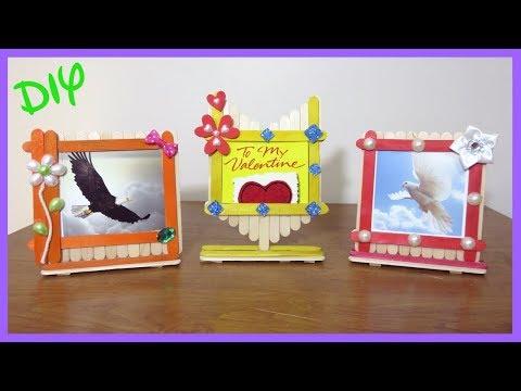 Diy photo frame using popsicle sticks