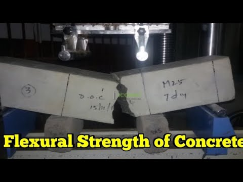 Flexural Strength Of Cement Concrete|Beam Test Of Concrete|tensile Strength Test  With Calculation