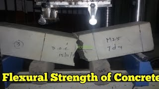Flexural Strength of Concrete|Beam test|tensile strength test with  calculation