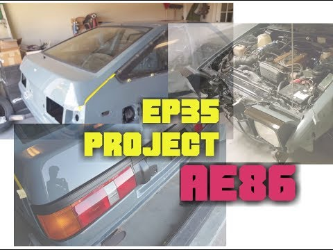 Ep35 PROJECT AE86 Restoring Taillights/side markers, hatch glass install, headlights install
