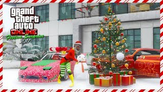 GTA Online Merry Christmas Festive Surprise 2017 DLC - SNOWFALL, NEW Vehicles, FREE Gifts & MORE!