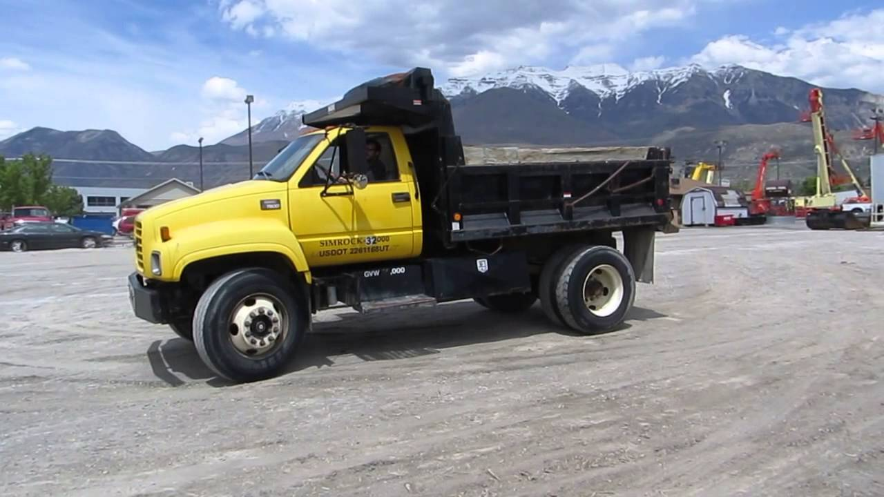 Dump Truck 1998 Gmc C7500 Cat 3126 Turbo Diesel 6 Speed