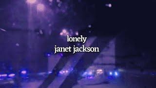 lonely by janet jackson (lyrics)