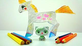 Учимся рисовать лошадку! Творчество для детей!(Любишь лошадок? Тогда скорее, присоединяйся к Тосе, ведь сегодня, Маргарита, будет учить ее рисовать лошадку..., 2015-09-04T06:04:01.000Z)