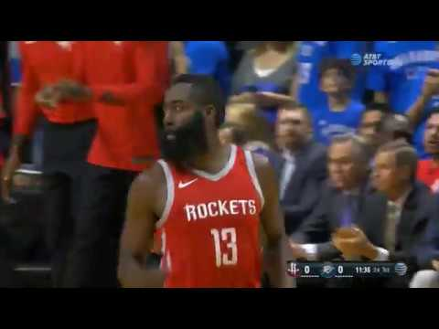 Chris Paul opens Rocket career with steal, assist to James Harden