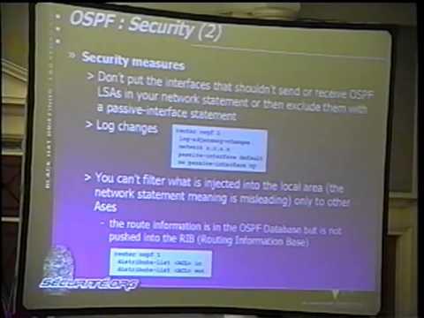Black Hat USA 2002 - IP Backbone Security