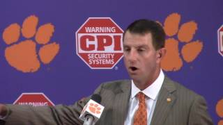 TigerNet.com - Dabo Swinney Syracuse postgame press conference - Part 1