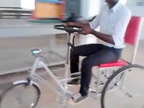 Automobile /Mechanical engg students project----steering column drive vehicle