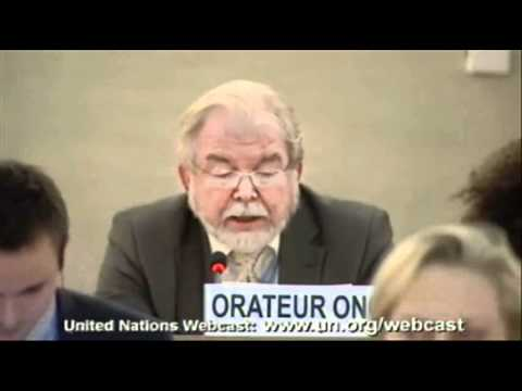 Roy Brown to UN HC for Human Rights on Iran, Sudan