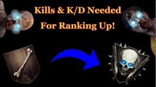 Black Ops 2 Zombies - Amount Of Kills & K/D Needed To Rank Up!