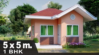 House Plan 5x5m | House Design With Floor Plan Hd #7
