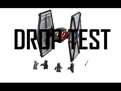 LEGO Star Wars First Order Tie Fighter Drop Test