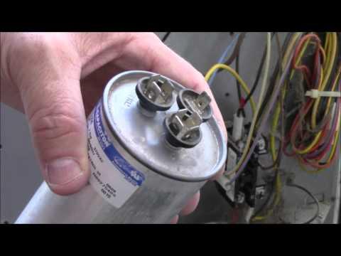 AC Fan/Compressor Not Working - How To Test /Repair Broken HVAC Run Start Capacitor Air Condition HD