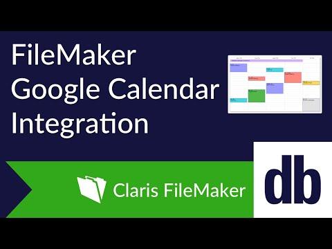 FileMaker Google Calendar Integration