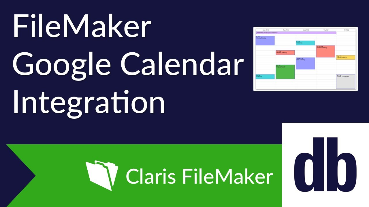 FileMaker Google Calendar Integration | DB Services