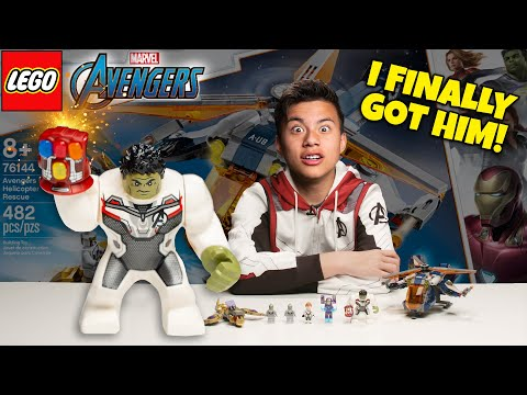 I FINALLY GOT HIM!!! LEGO Avengers Hulk Helicopter Rescue Set 76144 Timelapse Speed Build & Review!